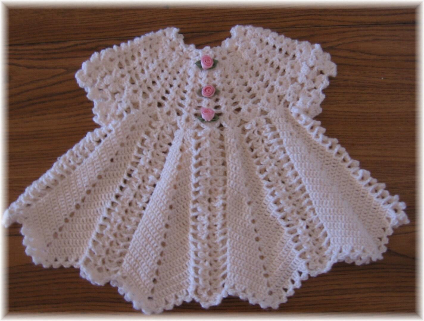 Crochet Pattern For Baby Dress Apple Blossom Baby Girl