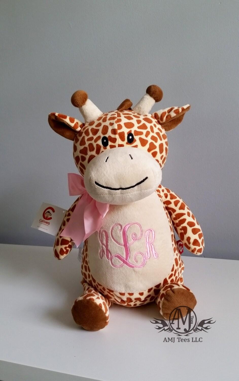 Personalized stuffed animal giraffe toy monogrammed baby zoom negle Choice Image