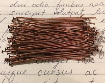 "2"" Antique Copper Headpins 100 Pieces"