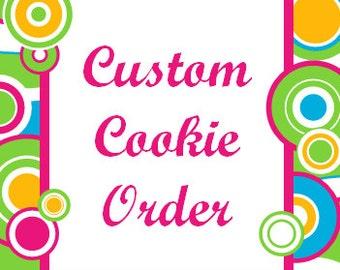One Dozen Made to Order Sugar Cookies