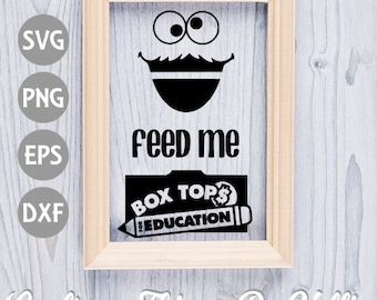 Feed Me Box Top SVG