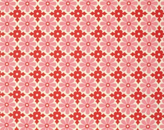 Ginger Snap by Heather Bailey for Free Spirit - Snapdaisy - Peppermint - 1/2 yard cotton quilt fabric 516