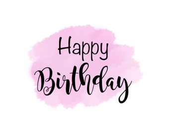 """Happy Birthday 2"""" Gift Tag - Pink"""