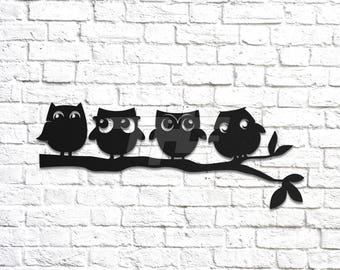Four Owls Wall Art