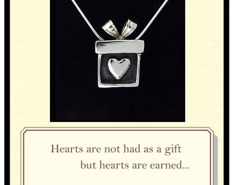 W B Yeats, Poem, Pendant with meaning, Irish Gift, Gift-for-Daughter, Heart, Giftbox, quote, A prayer for my daughter