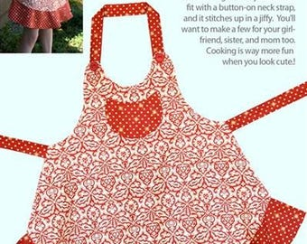 Sassy Little Apron - by Cabbage Rose by Barbara Brandeburg - Paper Pattern