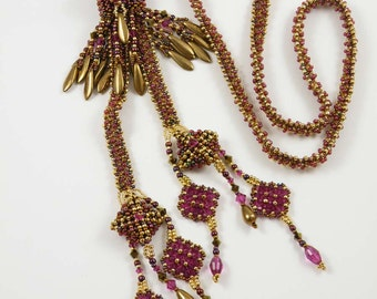 Beading Tutorial - Bohemian Bolo Necklace
