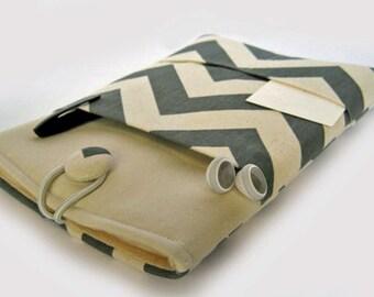 Macbook Air Sleeve, Macbook Air Case, 13 inch Macbook Air Cover, 13 inch Macbook Air Case, Laptop Sleeve, Grey Chevron
