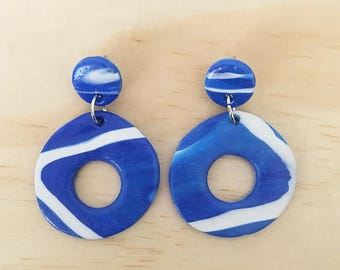 "Handmade statement dangle earrings // gifts for her // ""Oceanic"""