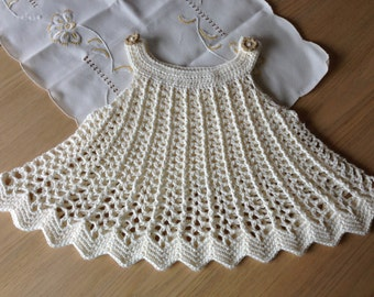 Crochet Pattern for Dress Tunic Top, Baby Girl Dress or Top Swing Style, PDF 12-054 INSTANT DOWNLOAD