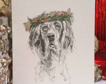 English Setter Holiday Card
