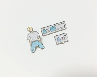 SEVENTEEN ENAMEL PIN (Don't wanna Cry  Jeong Han, battery, 17) svt pin, svt badge, seventeen pins