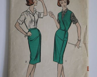 1950's Advance Sewing Pattern for Skirt / Top.  Size 14.