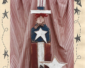 """Country Thoughts - American Andy - Wood Pattern - 19"""" and 7"""" Tall - Designer Jodi Gadoury"""