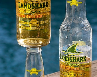 Landshark Beer Bottle Wine Glass