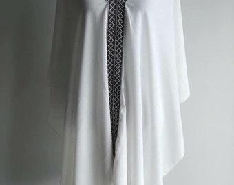 Kimono swim suit bikini beach cover up top shirt (white or black)