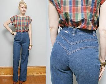Reserved for jeanne - VTG 70's Wide Leg High Waist Bell Bottom Denim Jeans - S  *Free Shipping for US Buyers*
