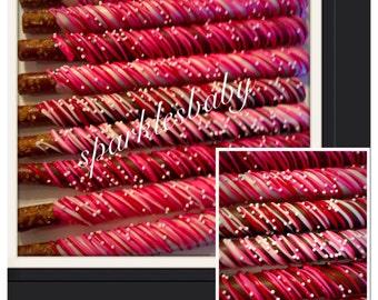 Valentine's Day Gourmet Chocolate Covered Pretzels