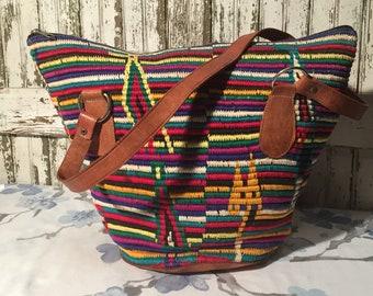 Vintage Woven Market Bag Southwestern