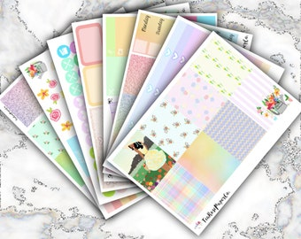 Summer Bloom Weekly Sticker Kit (Erin Condren Life Planner - Vertical)