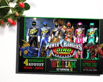 Power Ranger Invitation, Power Ranger Birthday Invitation, Power Ranger Party, Power Ranger Birthday Party, Power Ranger Party Invite