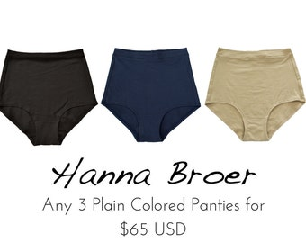 Any 3 PLAIN Panties Combo - Organic Underwear