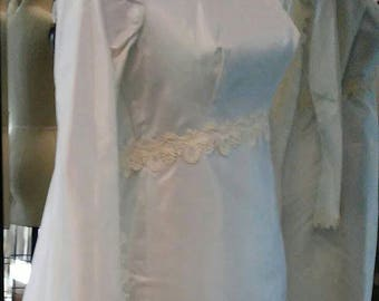 1960's taffeta sheath with removable cape