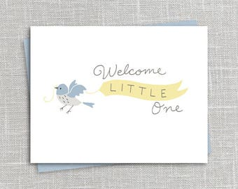 Welcome Little One Notecard Printable Instant Download PDF