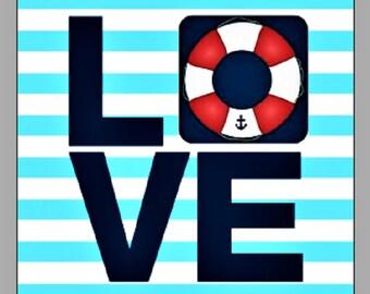 Nautical Love glossy photo print 5x7 picture