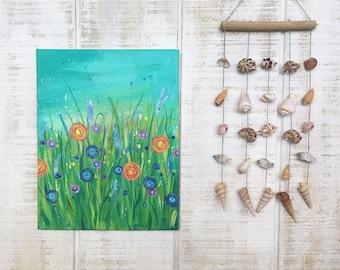 Splattered Wild Flowers Painting