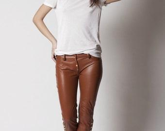 Calixa genuine leather pants