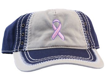 Pink Breast Cancer Awareness Ribbon Unique Stitched Dad Hat