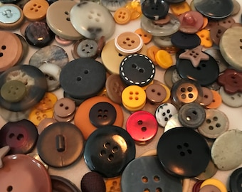 Vintage/Modern Mix Brown Buttons - 200 Count  - A