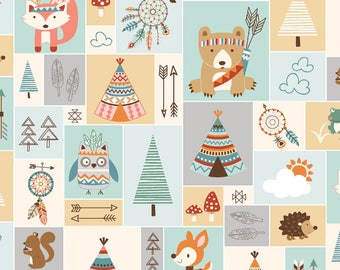 Light Green Patchwork, Camp-a-long Critters, from Studio E