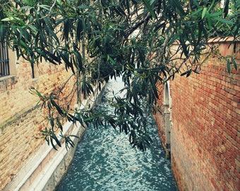 Photos of Venice, travel art, digital photos, wall art, Home decor, Venice Canals, Venice photo ''Teal waters'' by Skye McDonald