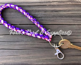 Paracord Wristlet Keychain with Swivel Clip, Accessory, Ready to Ship