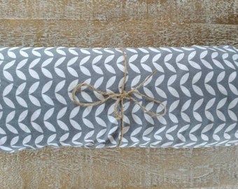 Gray and White Chevron Fitted Crib Sheet