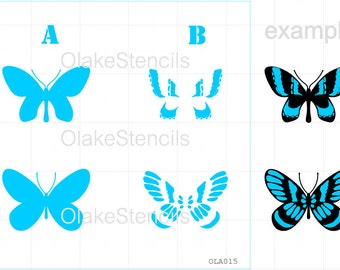 OLA015 Butterfly - two layers stencil
