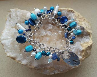Into the Blue Sterling Silver Sapphire Charm Bracelet