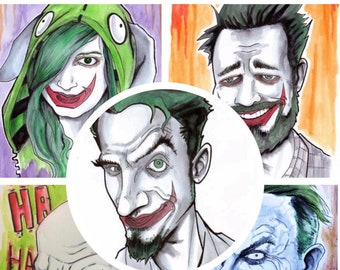 GET JOKERIZED traditional and digital portraits available