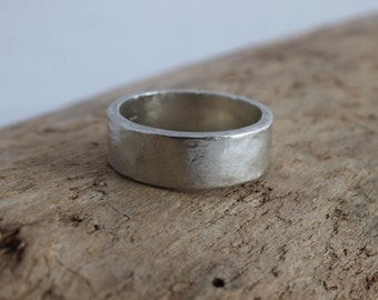 Personalized Silver Band - Custom Engraved Ring, Sterling Silver Wedding Band, Anniversary Band, His and Hers Jewelry, Engraved Ring