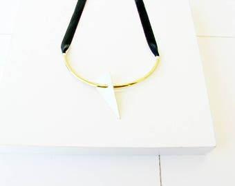 Modern Collar Necklace-Brass Collar Necklace-Geometric Statement Necklace-Gold Collar Necklace-Gold Statement Necklace-Modern Jewelry