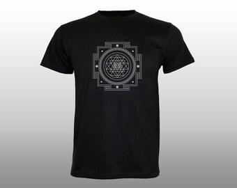 Shri Yantra | light reflective print | psychedelic | sacred geometry | night glow