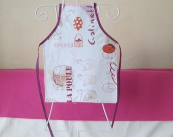 Child's oilcloth apron: 4/6 years hen