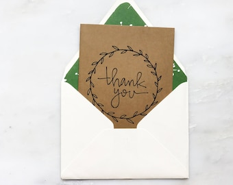 Thank You Wreath Card
