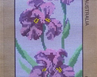 Purple Iris/ Tapestry Canvas/Unworked by Baxtergrafik