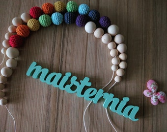 Rainbow nursing necklace / teething necklace / Baby Teething toy