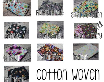 1 yard Cotton Woven RETAIL cuts Anime, Pony, Unicorns, and more