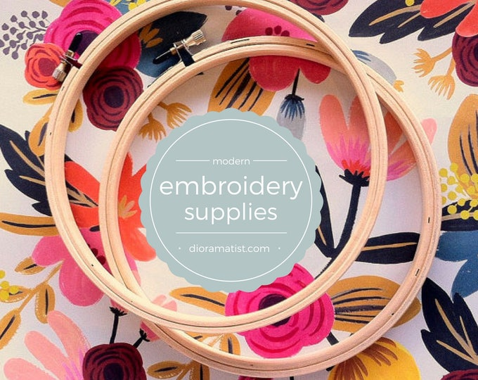 """5"""" embroidery hoops - set of 2 - embroidery supply - 5"""" wood hoop"""