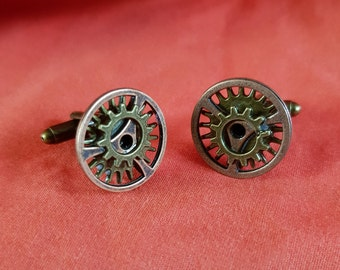 new one off bronze steampunj cuff links (76)